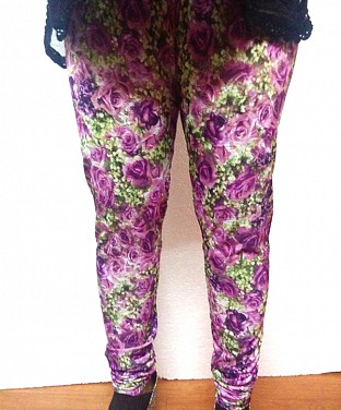 Stretchable Flower Print Lycra Legging Buy Rs.361.00