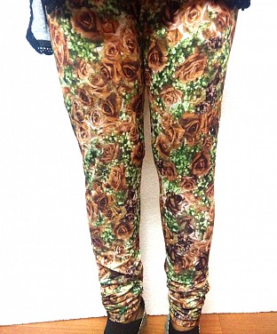 Stretchable Flower Print Lycra Legging @ Rs361.00