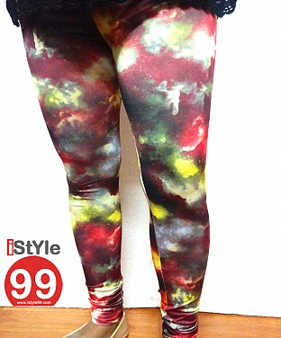 High-end European galaxy style digital printing Leggings@ Rs.464.00