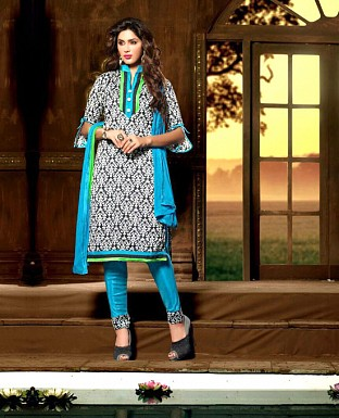 Embroidery Bhagalpuri Silk Salwar Suit with Dupatta @ Rs399.00