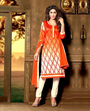 Embroidery Bhagalpuri Silk Salwar Suit with Dupatta Buy Rs.399.00