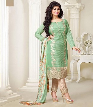 Lady Fashion Villa green designer salwar suit @ Rs1335.00