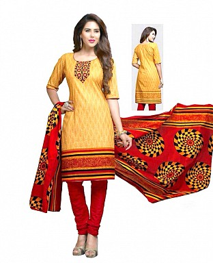 Printed Cotton Salwar Suit with Dupatta Buy Rs.300.00