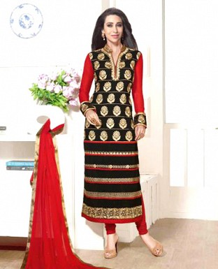 Heavy Embroidery Designer Georgette Suit with Duppta@ Rs.1853.00