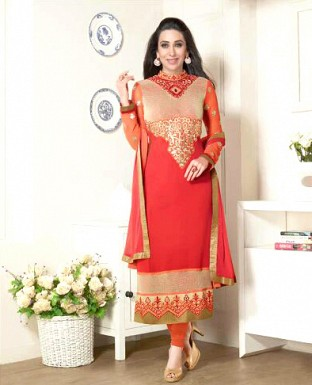Heavy Embroidery Designer Georgette Suit with Duppta @ Rs1853.00