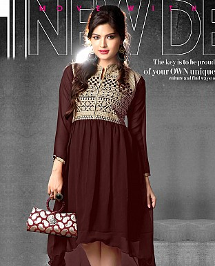 Indo Western Georgette Dress @ Rs599.00