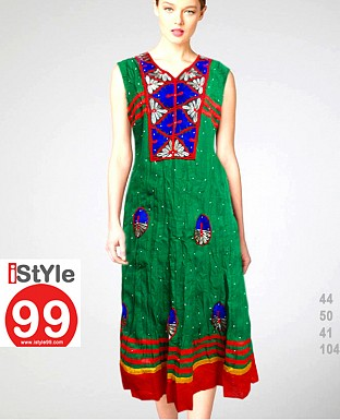 Embroidery Anarkali Cambric Cotton Kurti @ Rs720.00
