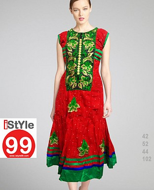 Embroidery Anarkali Cotton Kurti @ Rs720.00