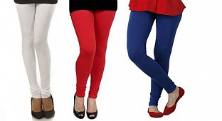 Cotton White,Red and Royal Blue Color Leggings Combo @ Rs617.00