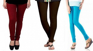 Cotton Brown,Dark Brown and Sky Blue Color Leggings Combo@ Rs.617.00