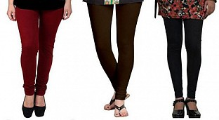 Cotton Brown,Dark Brown and Black Color Leggings Combo @ Rs617.00