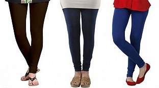 Cotton Dark Brown,Dark Blue and Royal Blue Color Leggings Combo@ Rs.617.00