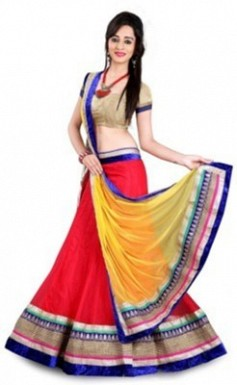 BEST COLLECTION  NET  DESIGNER LEHENGA @ Rs581.00