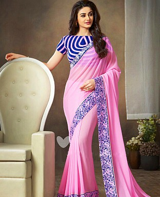 Georgette Embroidered Saree with Banglori Slik Blouse @ Rs1803.00