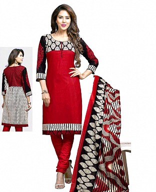 Printed Cotton Salwar Suit with Dupatta @ Rs617.00