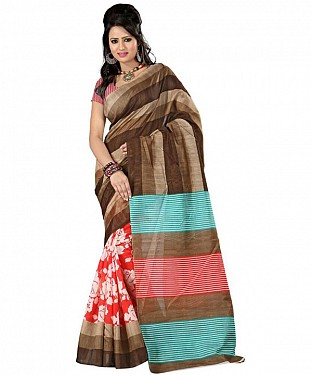 3 PATTA RED Saree@ Rs.469.00