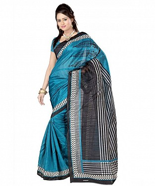 4 CORN BLUE Saree @ Rs469.00