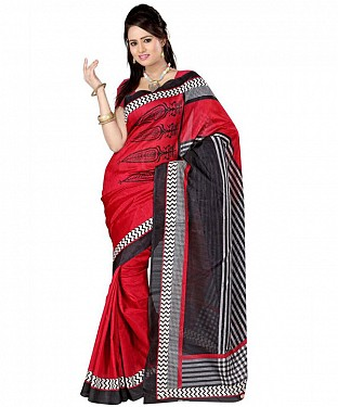 4 CORN RED Saree @ Rs469.00