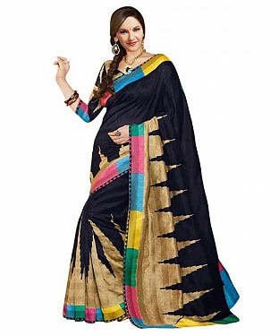 BLACK PRINT Saree @ Rs469.00