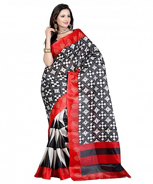 BLACKWHITE PRINT Saree @ Rs469.00