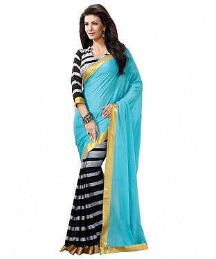 BLUE SAREE Saree @ Rs469.00