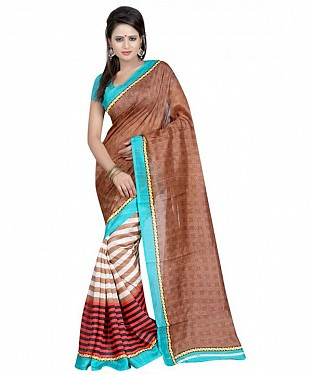 CHOCOLATE PALLU Saree @ Rs469.00