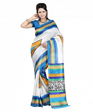 FARMER BLUE YELLOW Saree @ Rs469.00
