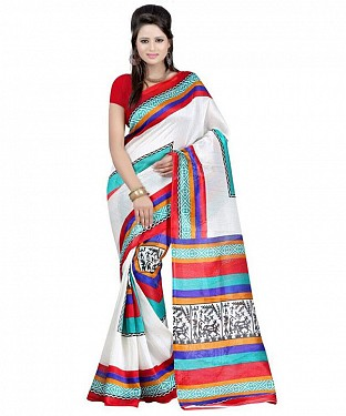 FARMER RED BLUE Saree @ Rs469.00