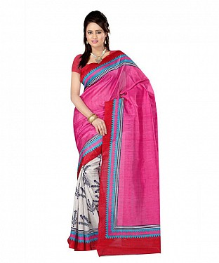 GRASS PRINK Saree @ Rs469.00