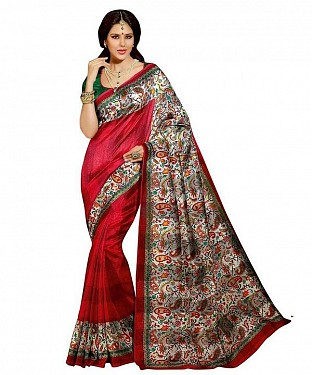 PARVATI RED Saree @ Rs469.00
