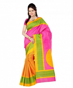 PINK LINER Saree @ Rs469.00