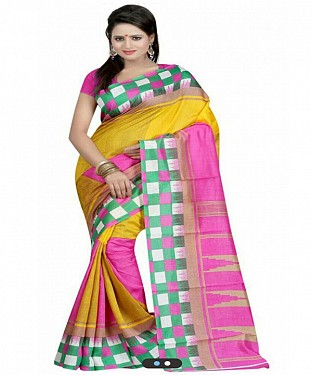 PINK SQUARE Saree @ Rs469.00