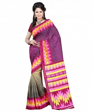 RANDOM PURPLE Saree @ Rs469.00