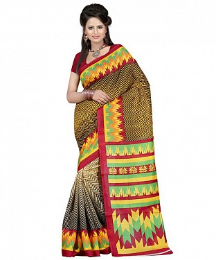 RANDOM YELLOW Saree Buy Rs.469.00