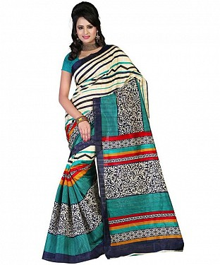RED BLACK PATTI Saree @ Rs469.00