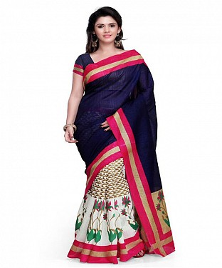 RIMZIM BLUE Saree @ Rs469.00