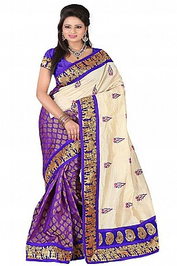 SILKY TOUCH BLUE Saree @ Rs469.00