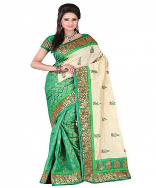 SILKY TOUCH GREEN Saree @ Rs469.00
