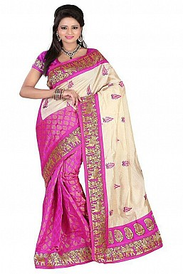 SILKY TOUCH PINK Saree @ Rs469.00
