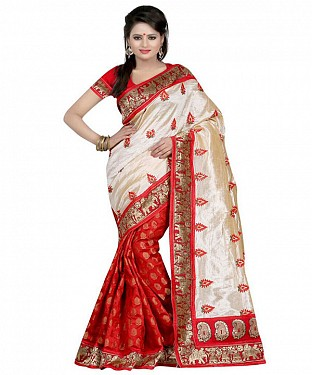 SILKY TOUCH RED Saree @ Rs469.00