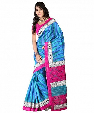 TRAIN BLUE Saree @ Rs469.00