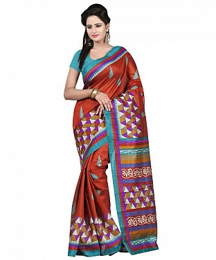 TRIANGLE RED Saree @ Rs469.00