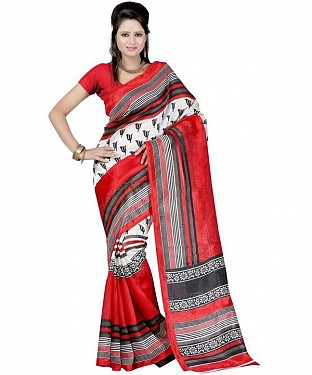 TRISHUL RED Saree @ Rs469.00