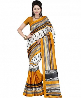 TRISHUL TURMERIC Saree @ Rs469.00
