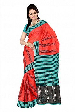 WICKET RED GREEN Saree @ Rs469.00