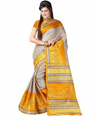 YELLOW FLOWER Saree @ Rs469.00