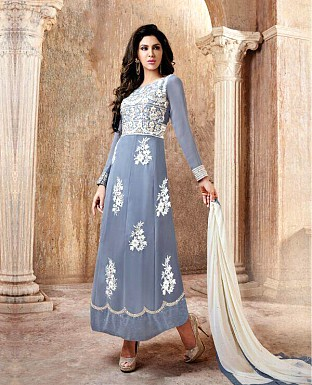 Designer Georgette Embroidery Suit with Dupatta@ Rs.1679.00