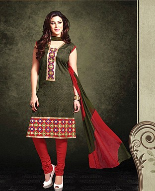 Printed Cotton Suit with Dupatta@ Rs.850.00