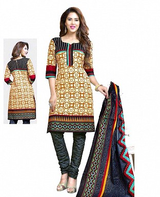 Printed Cotton Salwar Suit with Dupatta@ Rs.514.00