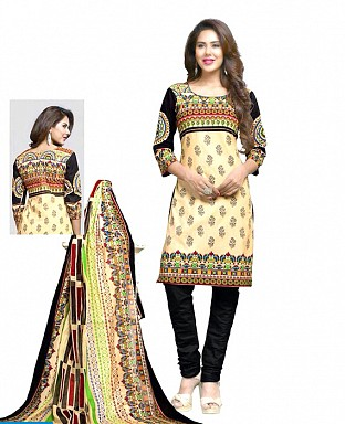 Printed Cotton Salwar Suit with Dupatta @ Rs514.00